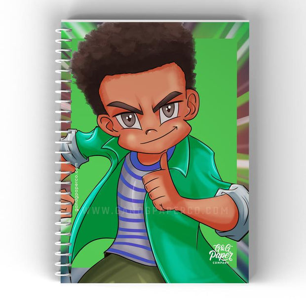 Notebook - Boy with a Green Shirt (8 1/2 by 12)