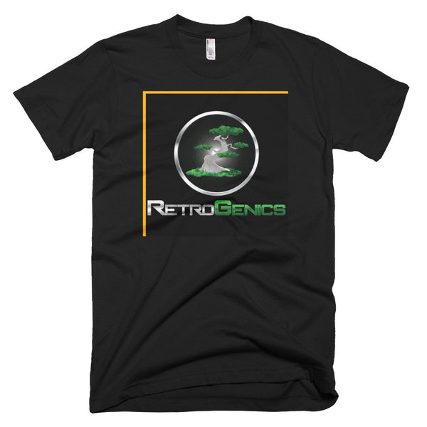 RetroGenics Black Short sleeve men's t-shirt