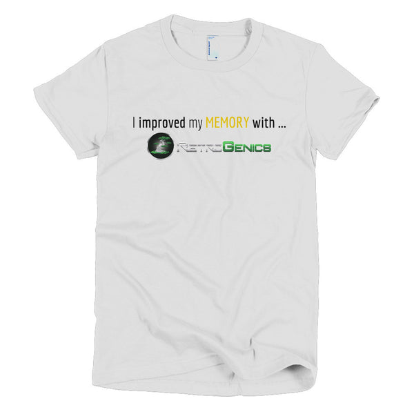 "RetroGenics ""I improved my Memory"" Short sleeve women's t-shirt"