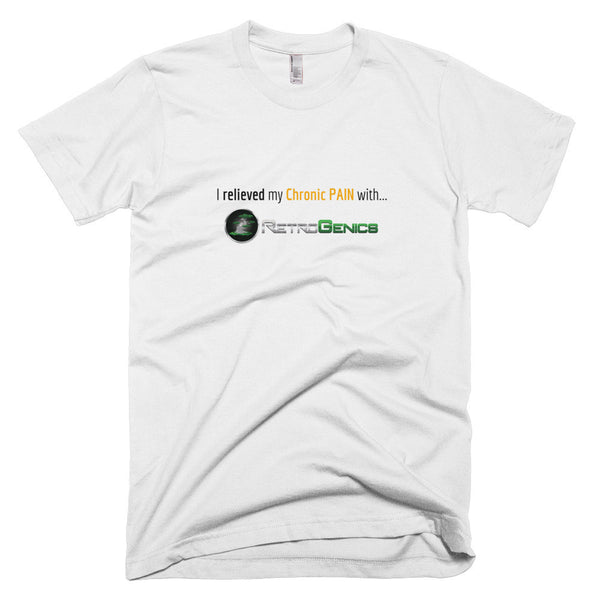 "RetroGenics ""I relieved my Chronic Pain"" Short sleeve men's t-shirt"
