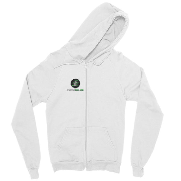 "RetroGenics ""I improved my Memory"" Zip hoodie White"