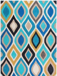 Designed in Britain, this hand carved rug has been designed to reflect the beauty of a peacock. Part of the dynamic Carnival collection, the abstract colours really bring a room to life. Available in both teal and rust and in sizes 120X170 and 160X230. 100% Acrylic Yarn,