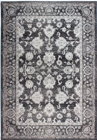 Elegant yet highly durable charcoal rug with traditional floral design, the Antique has been made to last. Perfect for both outdoor or indoor use, this beautiful rug is available in sizes 117X170 156X230 and 58X230 (runner rug).