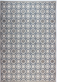 Highly hardwearing rug with scientific design. Geo rug in muted blue gives a futuristic design with understated finish. Made with 100% polypropylene, it can be used both indoors and outdoors as it is very easy to clean and durable. Available in sizes 117X170, 156X230 and 58X230 ( runner rug).