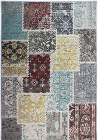 Patchwork rug with muted colours, this indoor, outdoor rug is 100% hardwearing for optimum use. Available in sizes 117X170, 156X230 and 58X230 (runner rug). An elegant and understated design, Patchwork is multi-functional and easy to clean.