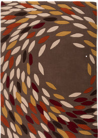 Designed in Britain and part of the beautiful Carnival collection, this 100% Acrylic Yarn rug is available in red, black/gold and grey/multi. Leaves dancing in the wind, the design is elegant and pretty.