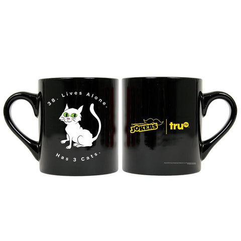 Impractical Jokers Cat Black Mug