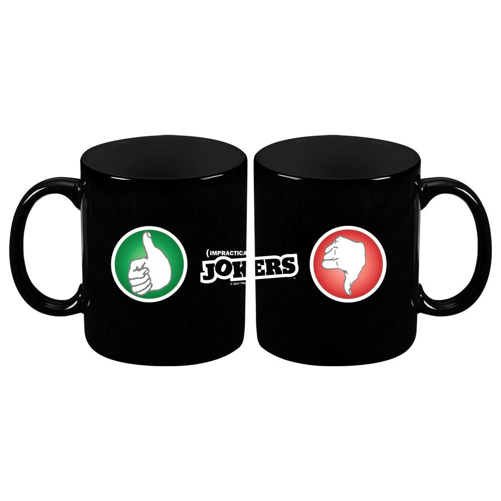 Impractical Jokers Thumbs Up / Thumbs Down Black Mug