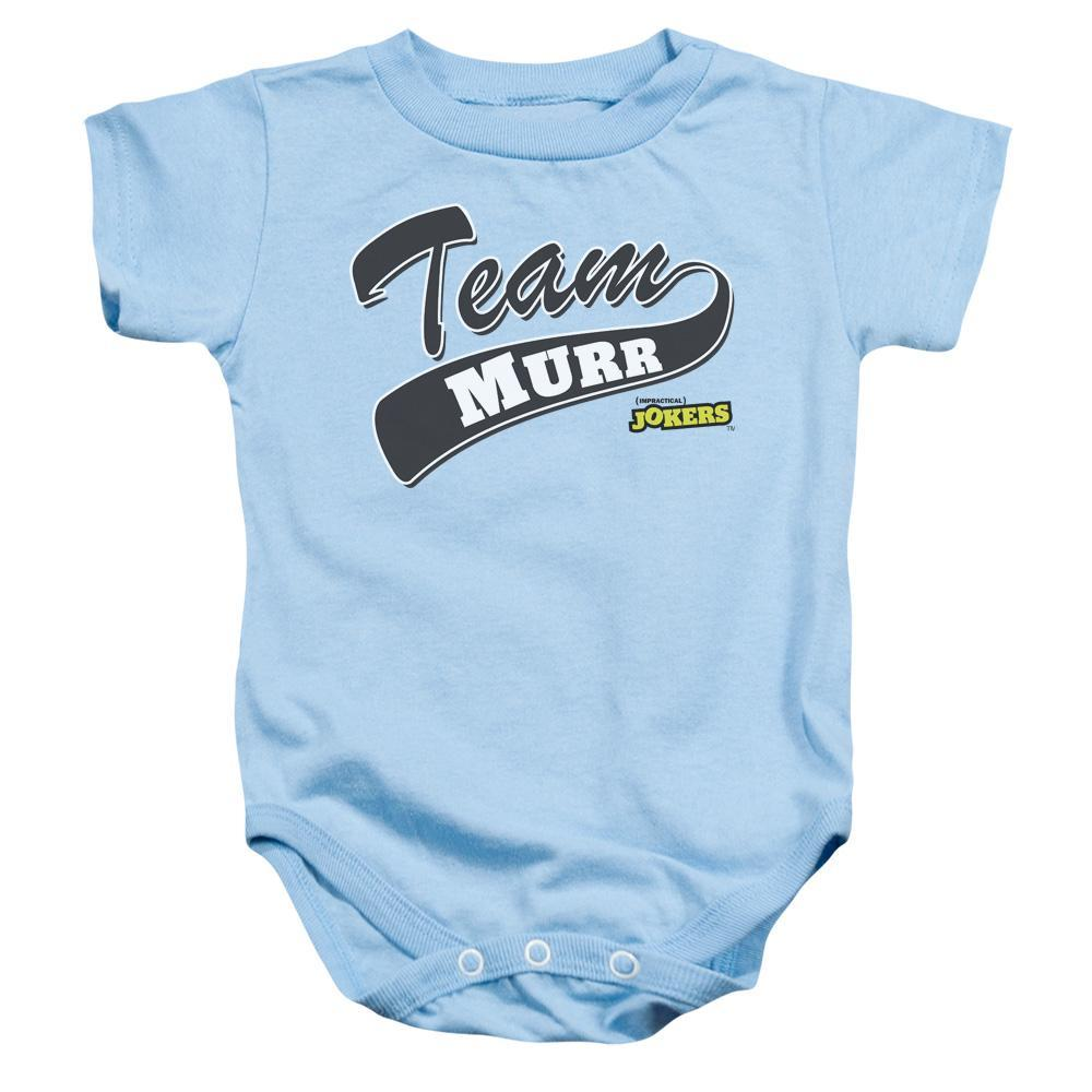 Impractical Jokers Team Murr Light Blue Infant Snapsuit