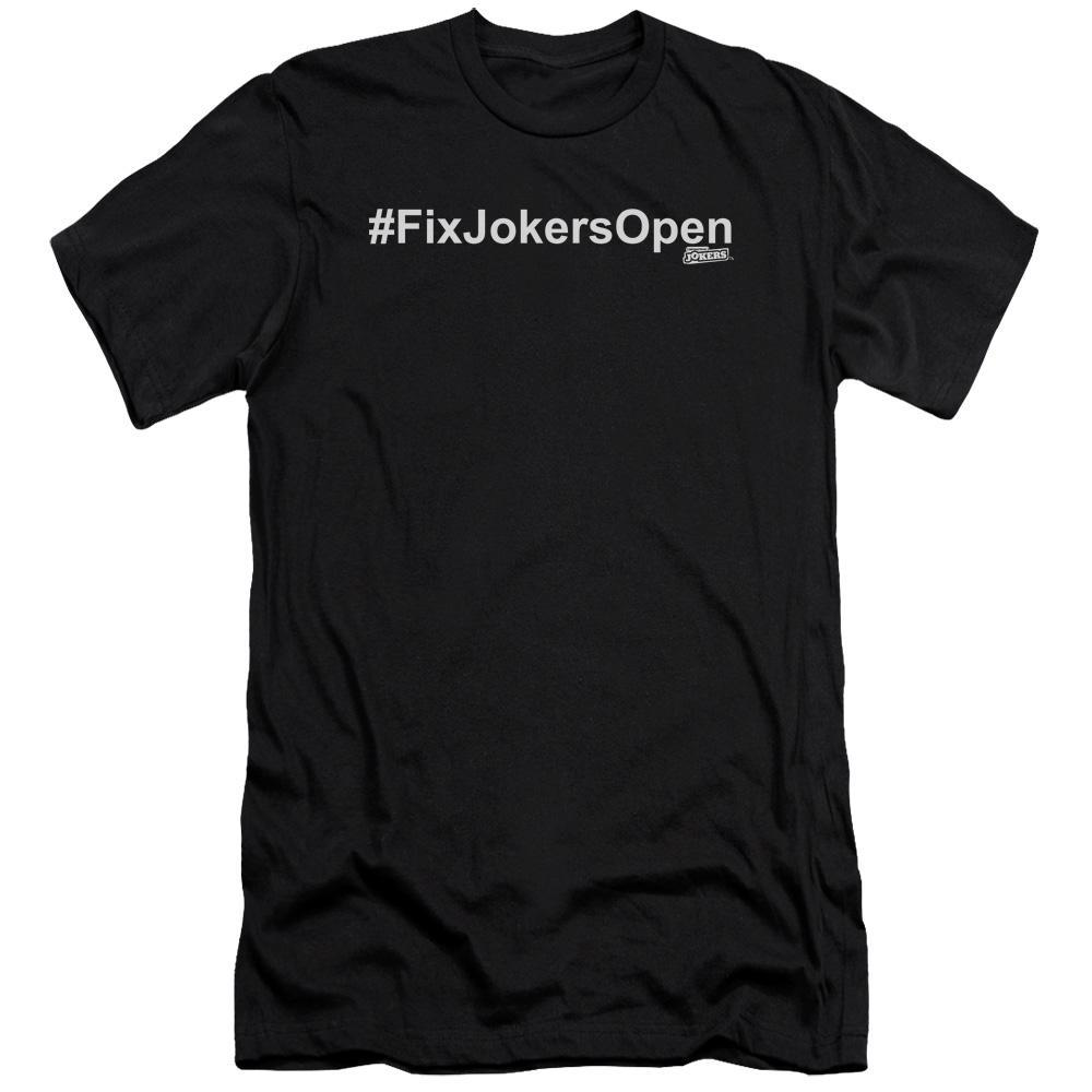 Impractical Jokers #FixJokersOpen Adult Black T-Shirt