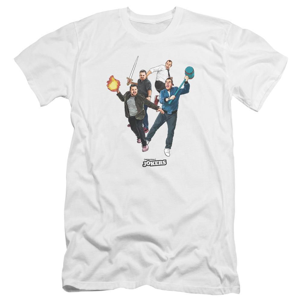 Impractical Jokers Cast White T-Shirts
