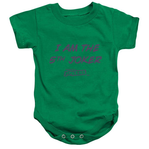 "Impractical Jokers ""I am the 5th Joker"" Kelly Green Infant Snap Suit"