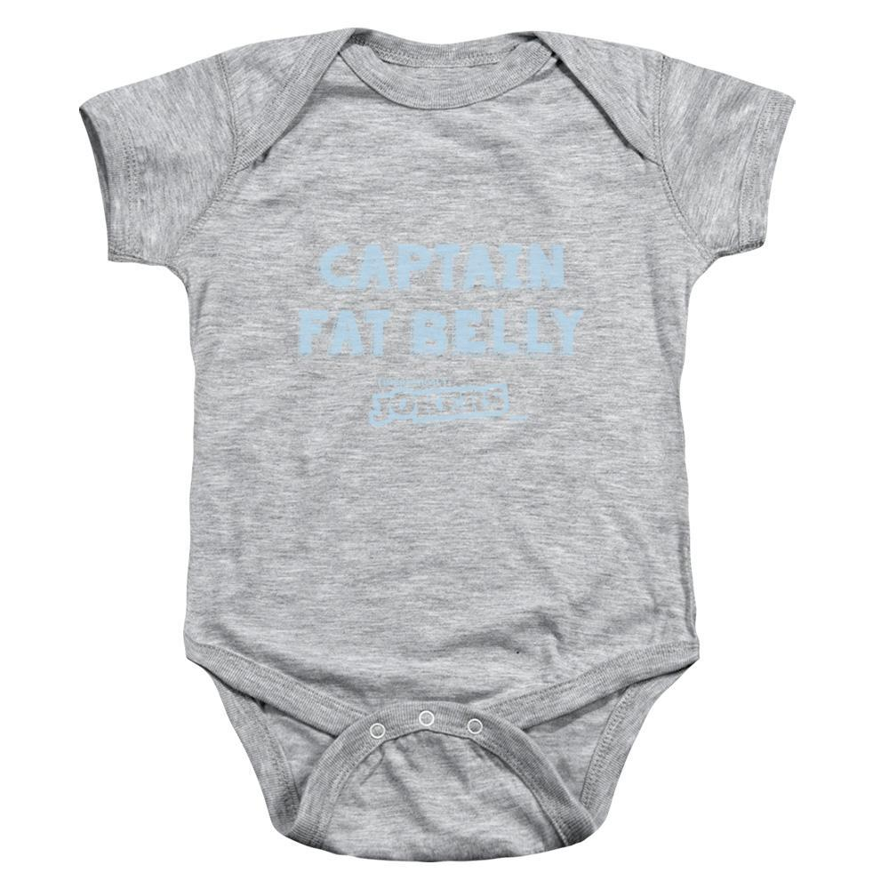 "Impractical Jokers ""Captain Fat Belly"" Heather Gray Infant Snap Suit"