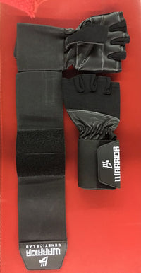 Warrior Genetics Lab Padded Wrist Wrap Gloves - Warrior genetics Lab