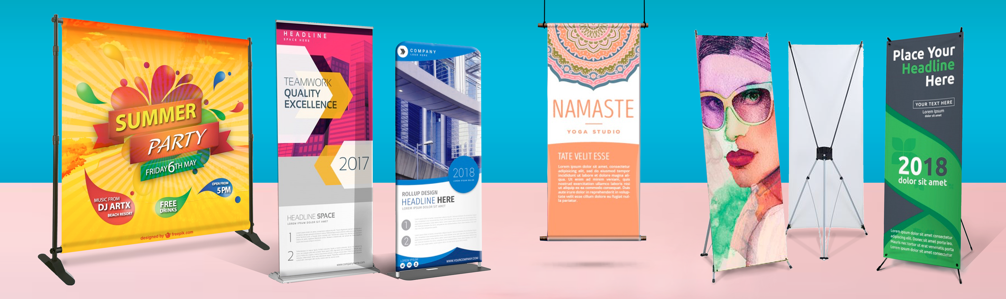 custom printed banners and stand up banners in Miami, FL