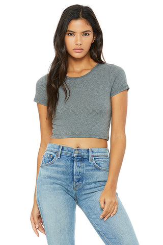 L6681 WOMEN'S POLY-COTTON CROP TEE