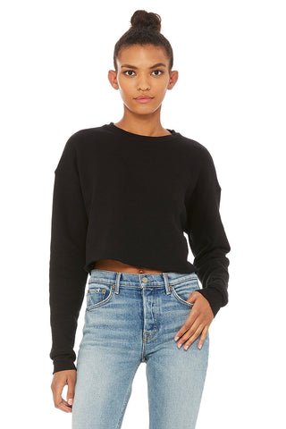 L7503 WOMEN'S CROPPED CREW FLEECE