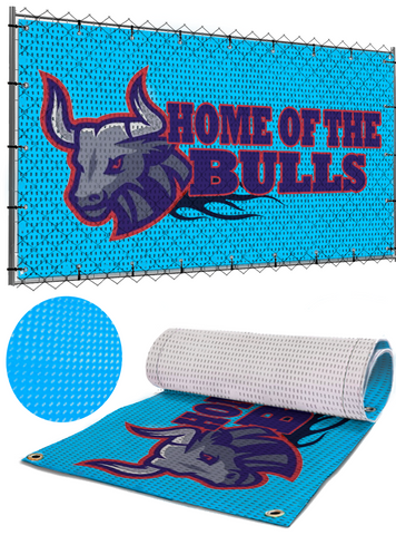 custom printed mesh banner sign