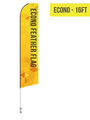 Econo Flag - 15ft - The Lemon Print | Online Marketing and T-Shirt Print Shop | Miami, Florida