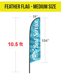 Tent Flag - Feather - The Lemon Print | Online Marketing and T-Shirt Print Shop | Miami, Florida
