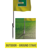 Straight Flag - 8.5ft - The Lemon Print | Online Marketing and T-Shirt Print Shop | Miami, Florida