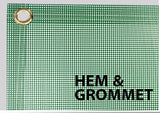 custom printed mesh banner sign finishing options