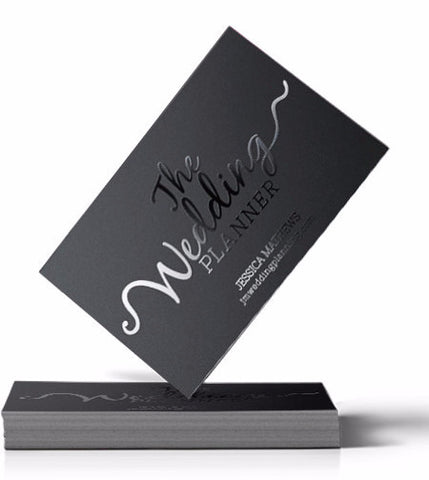 silk laminated business cards with spot-uv gloss