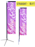 Straight Flag - 15ft - The Lemon Print | Online Marketing and T-Shirt Print Shop | Miami, Florida