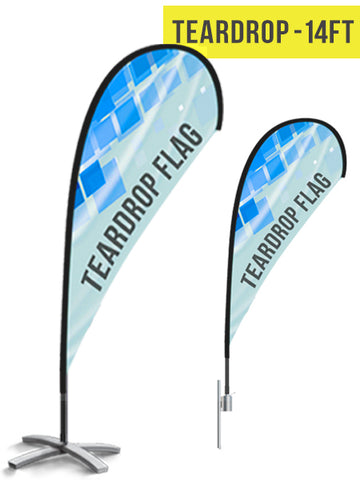 Teardrop Flag - 14ft - The Lemon Print | Online Marketing and T-Shirt Print Shop | Miami, Florida