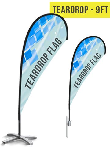 Teardrop Flag - 9ft - The Lemon Print | Online Marketing and T-Shirt Print Shop | Miami, Florida