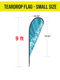 Tent Flag - Teardrop - The Lemon Print | Online Marketing and T-Shirt Print Shop | Miami, Florida
