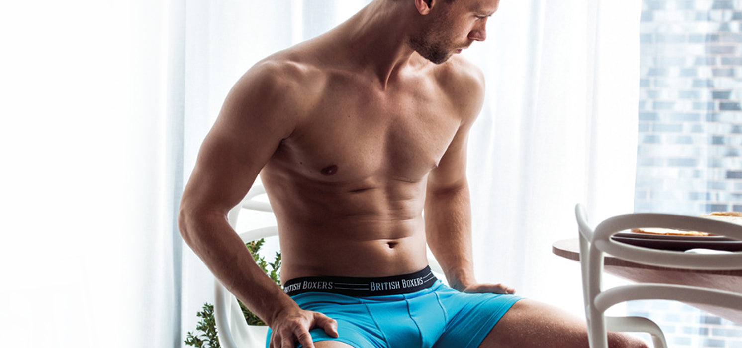 Bel Air Blue 2SOFT™ Boxer Briefs with our Speedy PullOut™ Fly