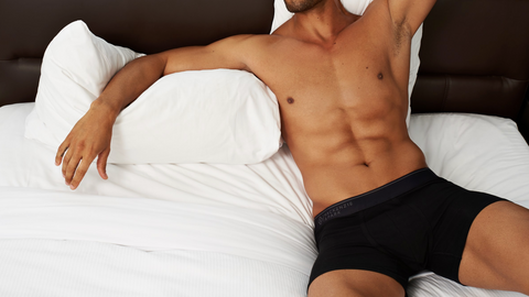 Pocket Mesh Boxer Briefs in Jet Black