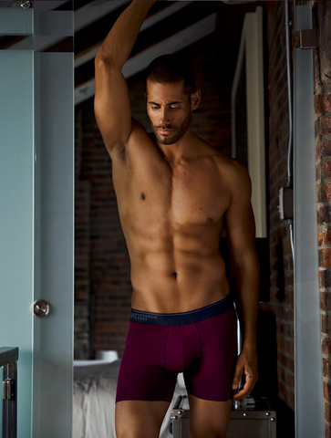 Pocket Mesh Pouch Boxer Briefs in Potent Purple