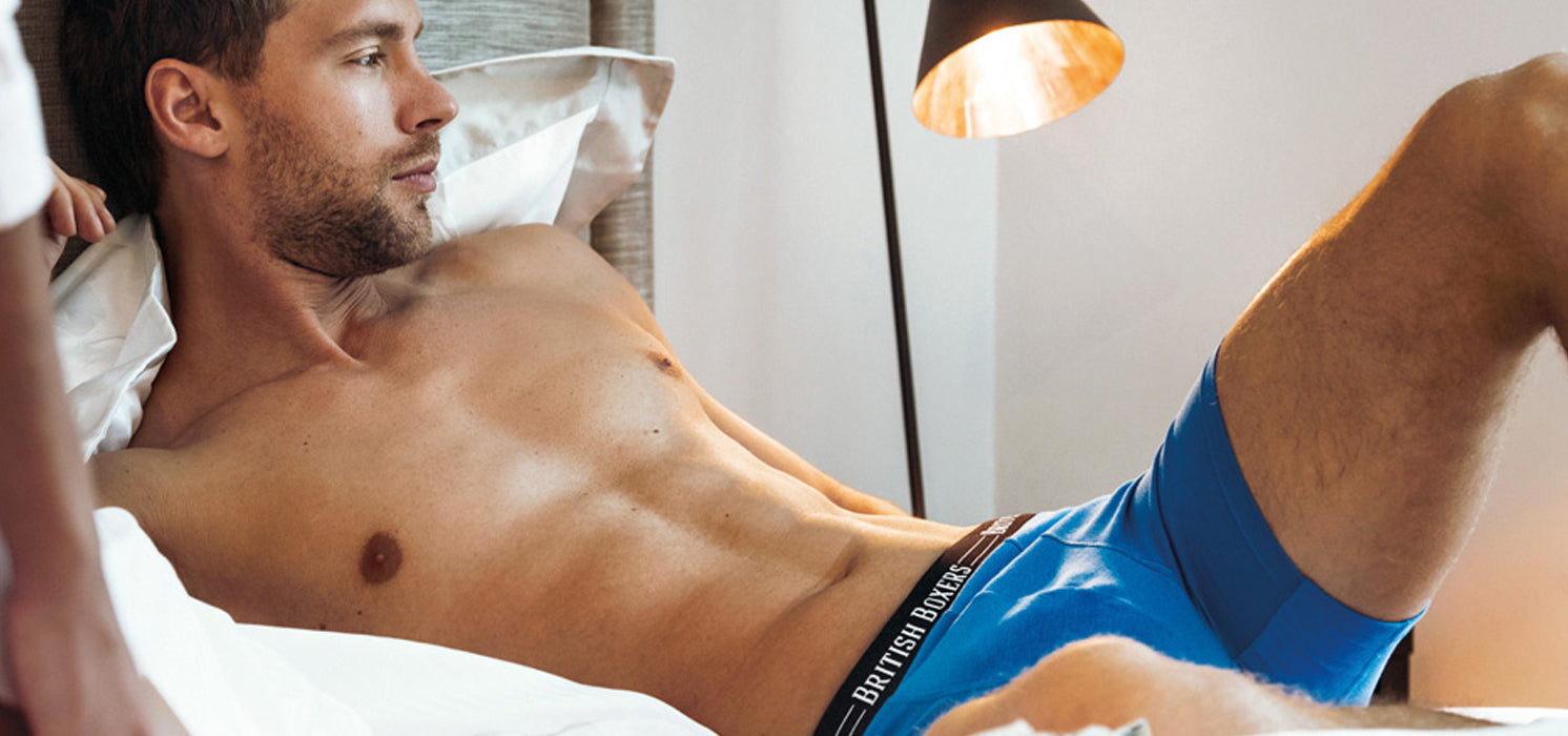 Skydiver Blue Trunks with Our Speedy PullOut™ Fly
