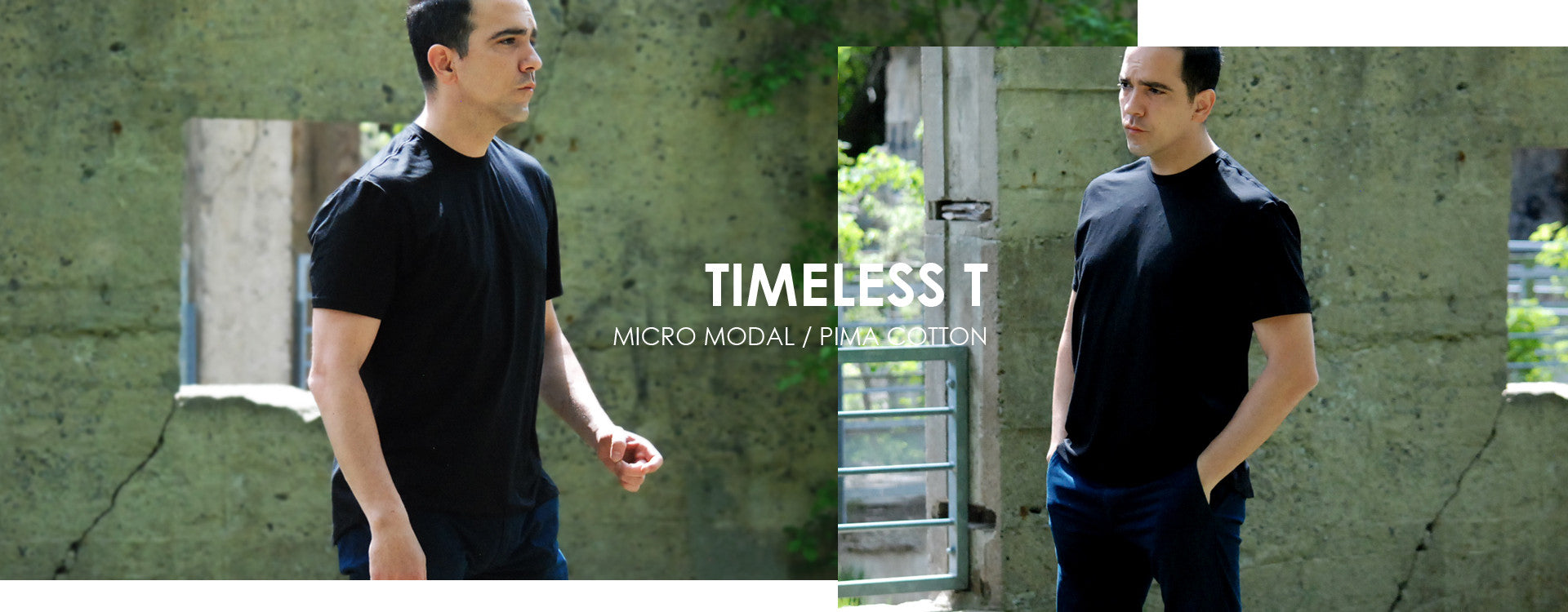Mackenzie and Park Timeless T shirt in Micro Modal/Pima Totton