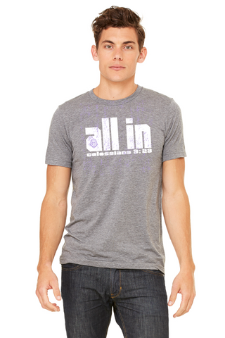 "2017 ""ALL IN"" T-shirt - Deep Heather"