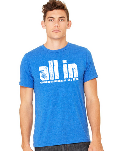 "2017 ""ALL IN"" T-shirt - Heather True Royal"