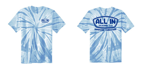 2019 ALL IN T-Shirt - Tie-Dye | BLUE