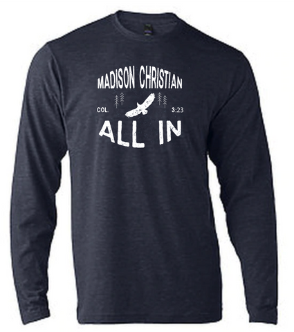 2020 (ADULT) ALL IN Long Sleeve T-shirt Heather Navy