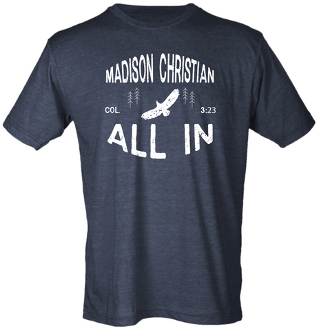 2020 (ADULT) ALL IN T-shirt Heather Navy
