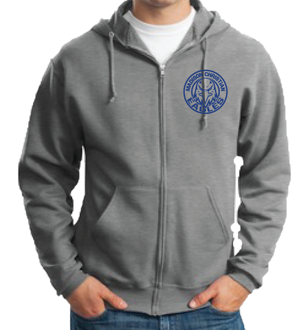 Full Zip Hoodie - Oxford Grey
