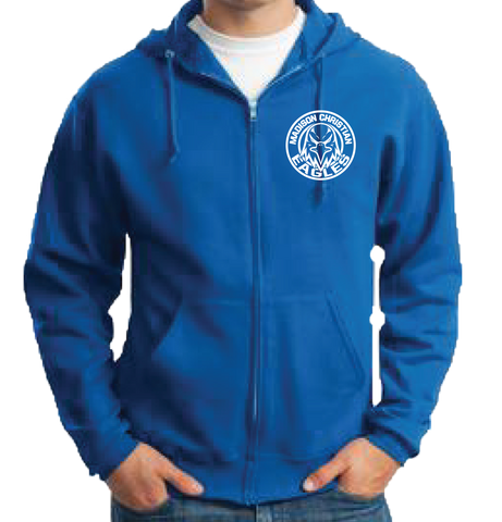 Full Zip Hoodie - Royal Blue