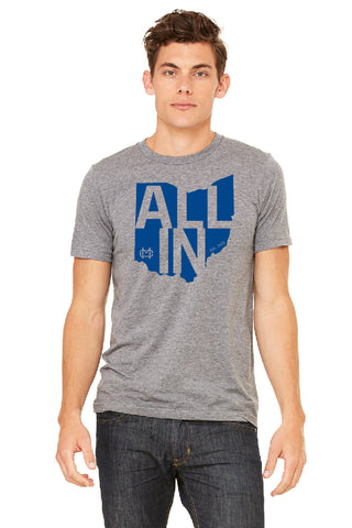 "2018 ""ALL IN"" T-shirt - Deep Heather"