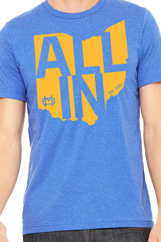 "2018 ""ALL IN"" T-shirt - Heather True Royal"