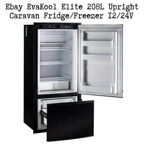 Ebay EvaKool Elite 208L Upright Caravan Fridge/Freezer 12/24V