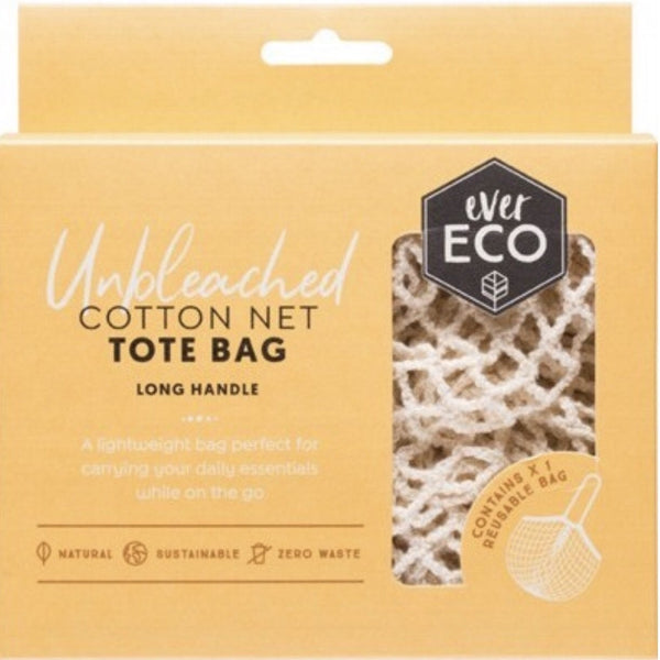 Ever Eco Reusable Organic Cotton String Tote Bag - Long Handle