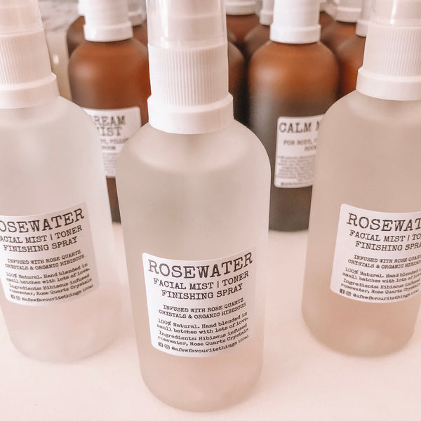Crystal Infused Rosewater Face Mist 100ml