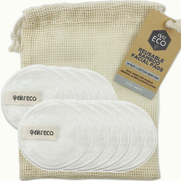Ever Eco Reusable Makeup Remover Pads 10 Pack - White