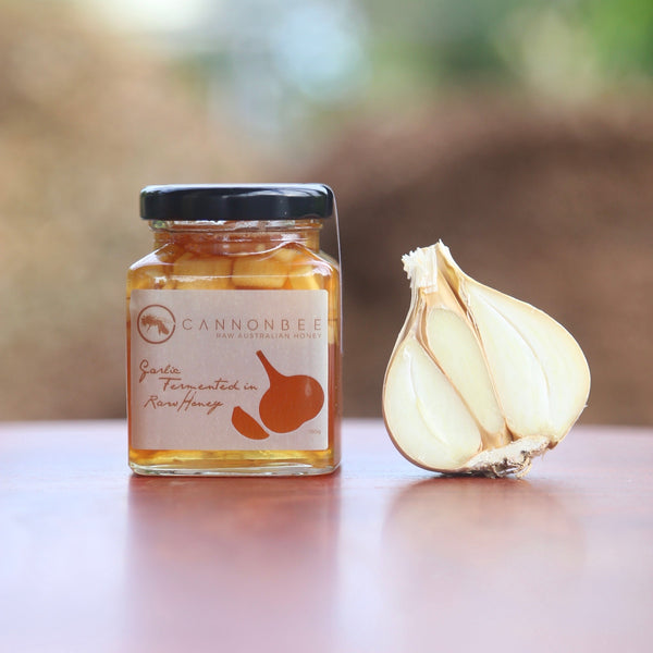 Cannonbee Garlic Fermented in Raw Honey 150g